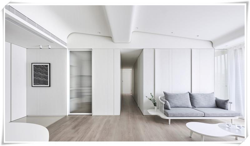 洛阳恒大绿洲极简设计方案施工效果图案例