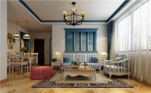 洛阳龙门一号地中海风格设计施工效果图