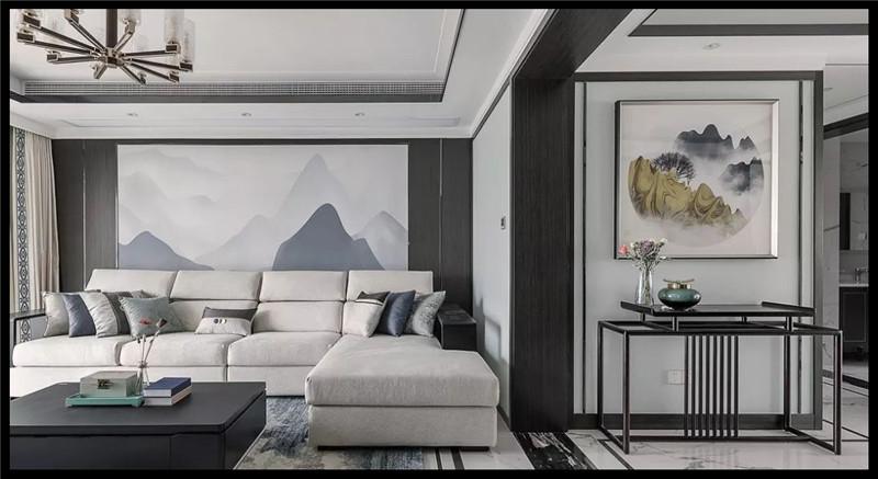 洛阳龙门一号新中式设计施工效果图 普奔装饰