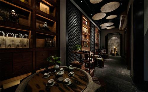普奔装饰 禅茶空间设计施工效果图