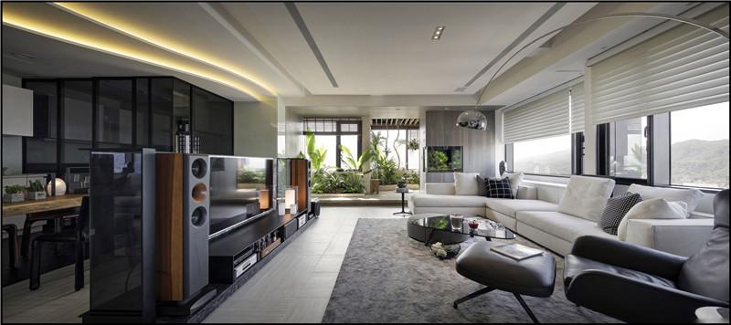 洛阳丽都名邸124平方现代简约设计施工效果图