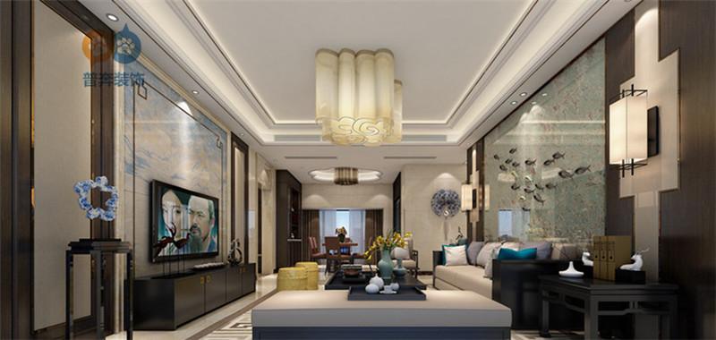 洛阳盛世新天地164平4室2厅 典雅中式风格装修效果图