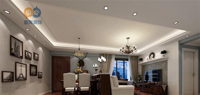 洛阳涧西区华夏路路劲御城89平3室2厅 美式休闲风格 装修效果图