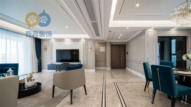 洛龙区香龙湾装修案例| 229㎡ 5房2厅 轻奢时尚风格 装修实景图