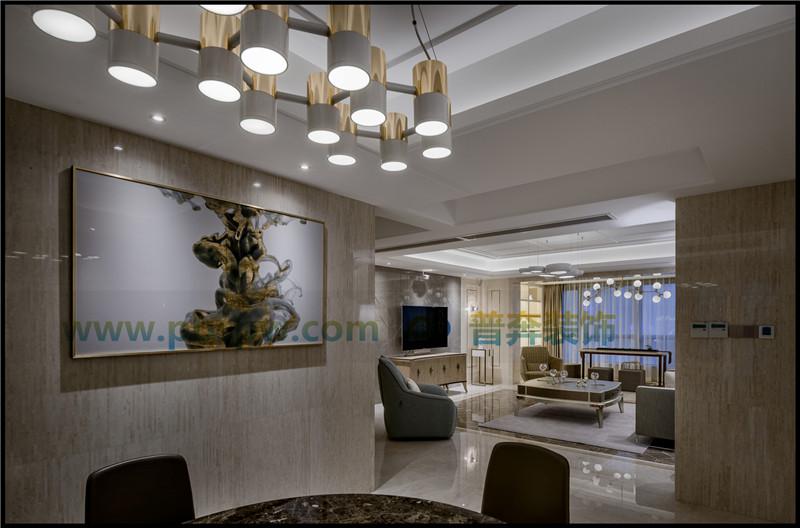 洛阳紫悦府290平设计施工方案效果图