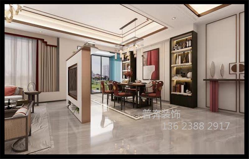 新中式联排别墅三+一层设计案例