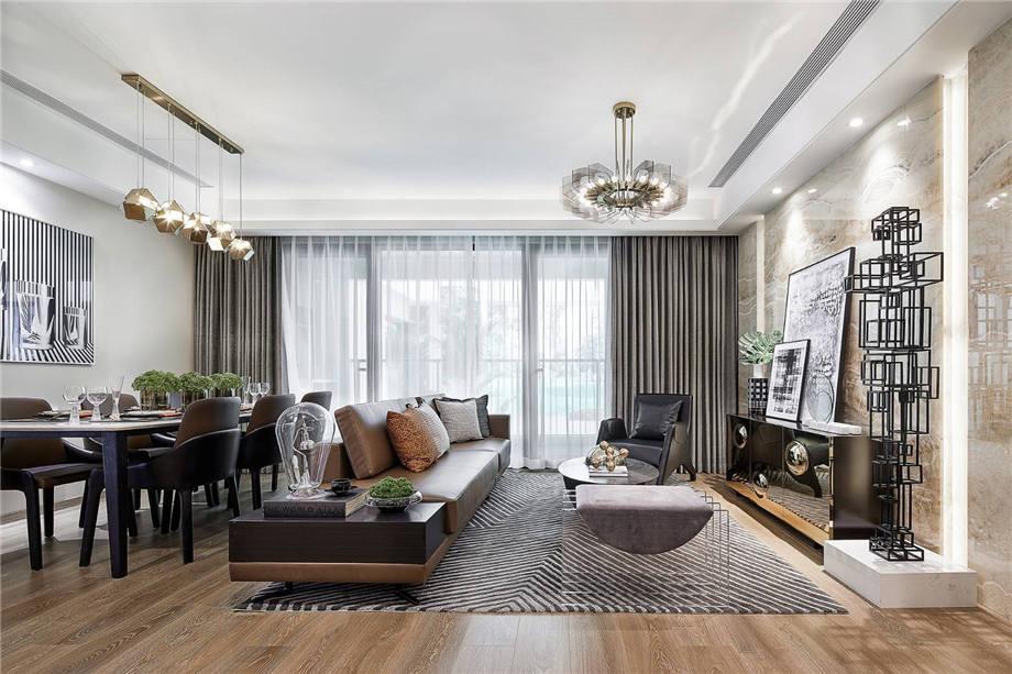 六安装修案例恒生阳光城 现代轻奢风格