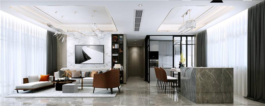 六安装修案例南河福龙湾 轻奢风格