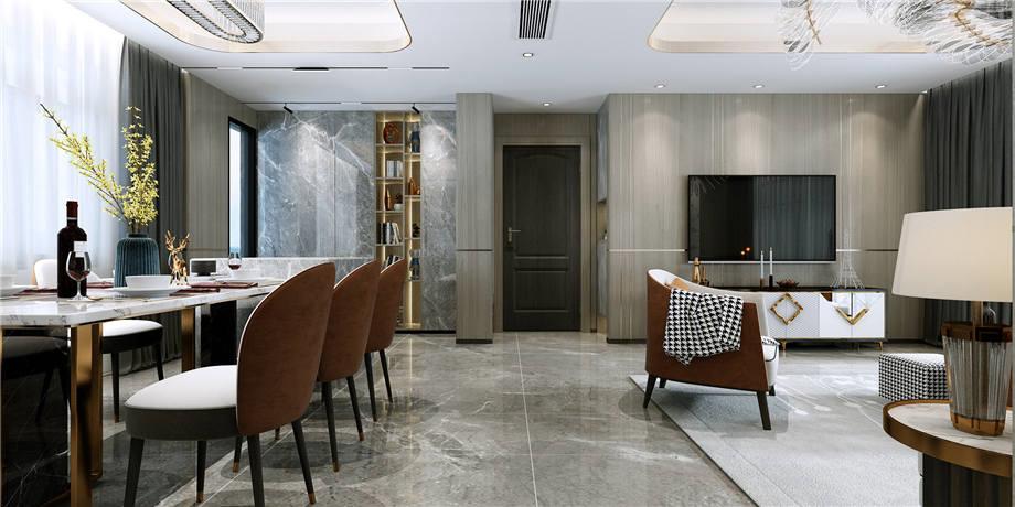 六安装修案例平安小区 现代风格