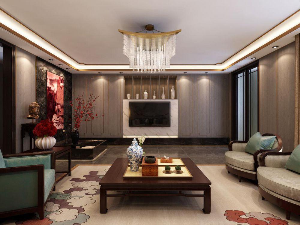 达州装修案例江湾城现代中式