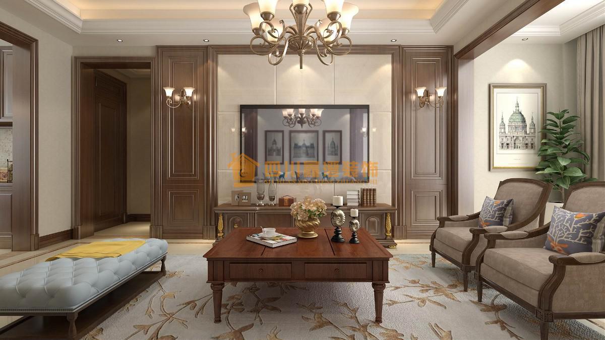达州装修案例江湾城古典美式