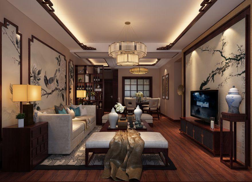 西外新区格凌西城现代中式风格