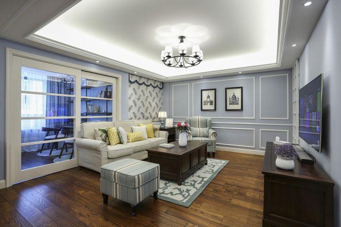 100㎡简约现代美式风格家居装修