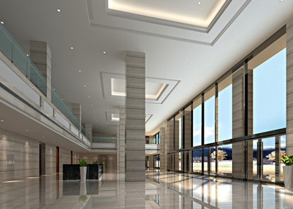天津市寶坻科技中心--大堂辦公樓