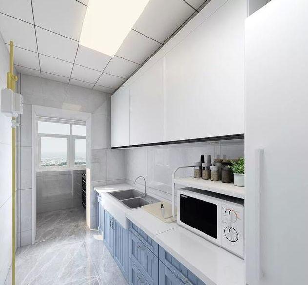 沈阳80平简约风格旧房改造装修案例