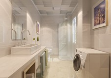沈阳卫生间翻新改造教你洗手台柜是买整体的好还是自砌的好?