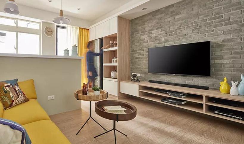 沈阳老房翻新案例|66�O两室一厅老房翻新,北欧风格很暖!