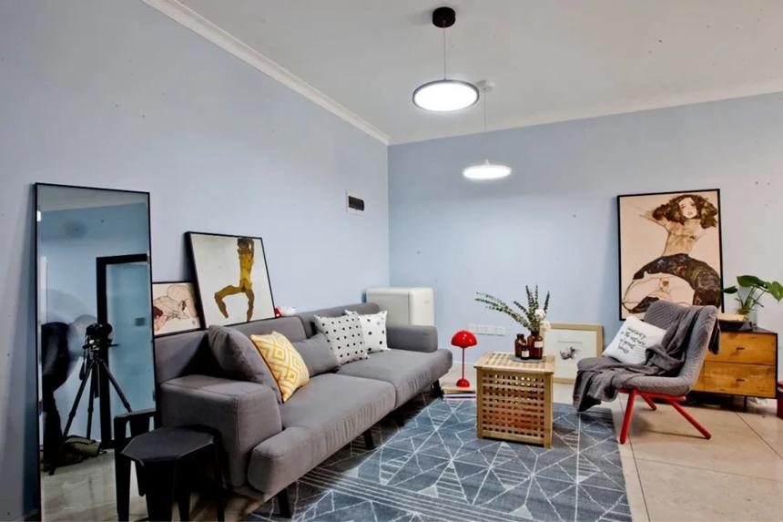沈阳客厅翻新案例|装修预算不足?客厅不吊顶,这样设计也很美!