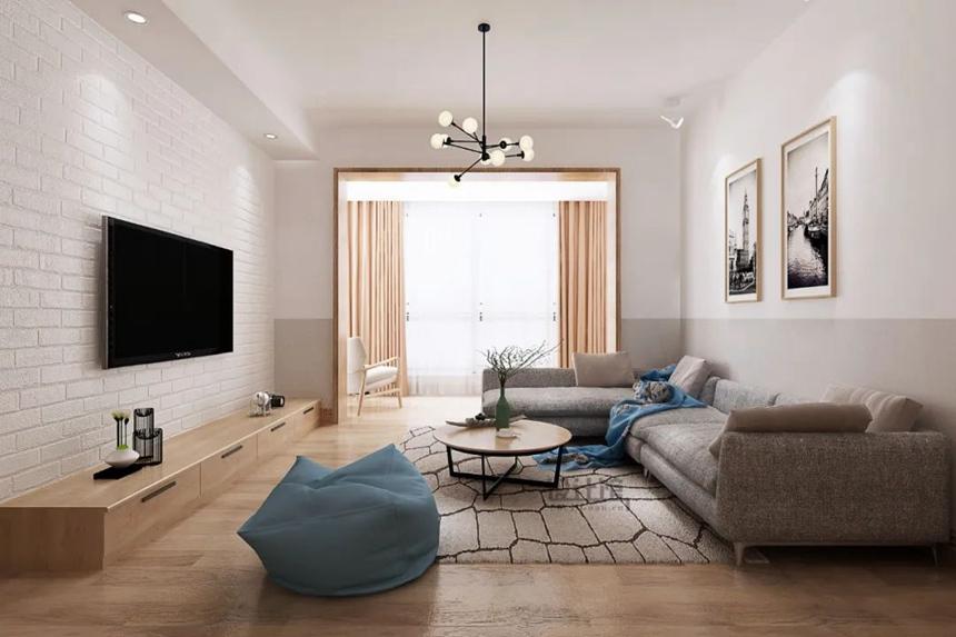 沈阳客厅翻新案例|不带阳台的客厅,该如何装修设计?