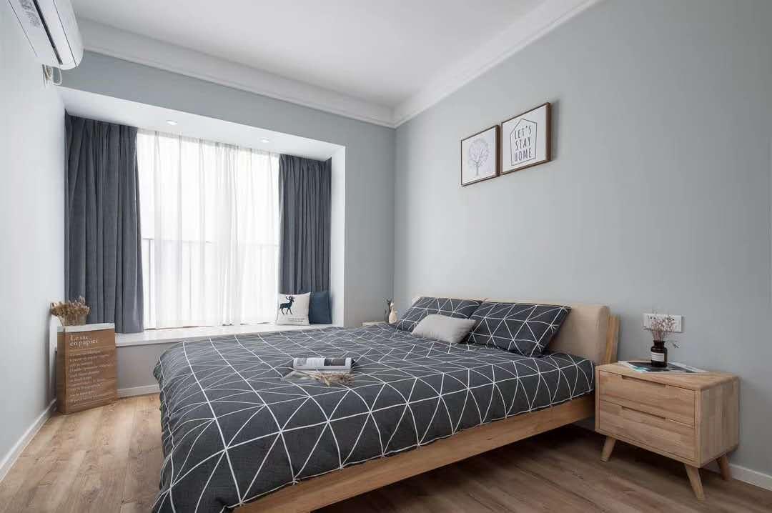 原木简约风四居室,清新素雅、极致舒适