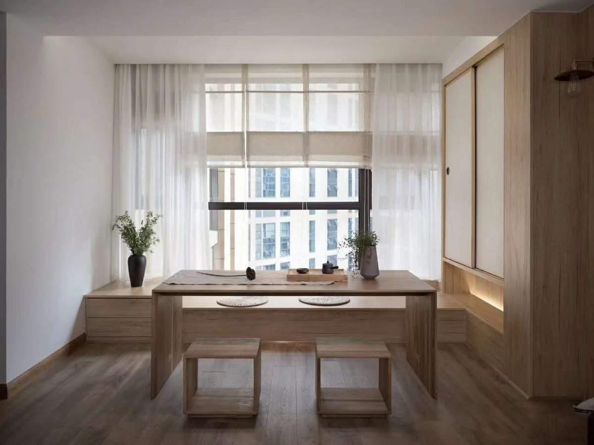 115㎡原木自然风三居室,简单温馨有质感
