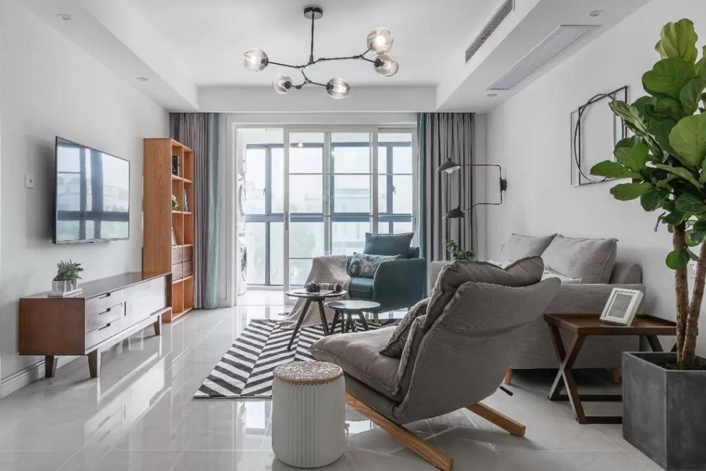 100㎡清新淡雅北欧风家居设计,删繁就简,完美素颜装修!