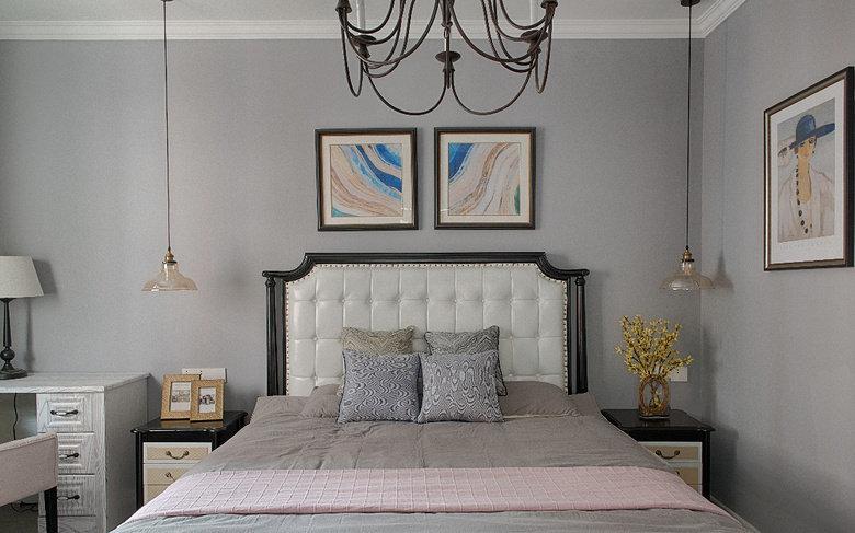 120m²简约美式风格三居室设计,暖暖的温馨美家!