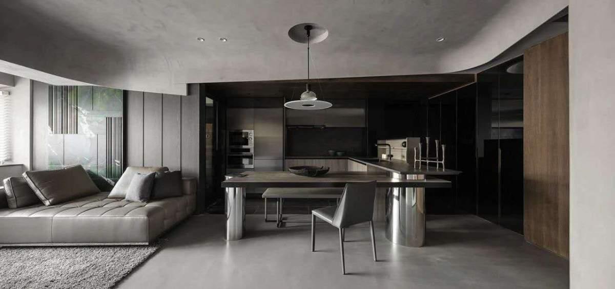 小户型的住宅,高级黑,满满的设计感!