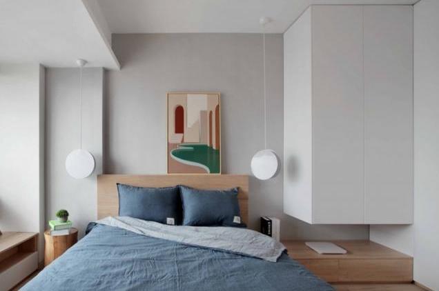 卧室小不能放床头柜怎么装饰 7套案例供你参考!