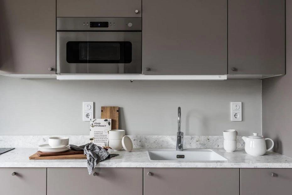 40㎡loft公寓,黑白灰+香芋紫,温柔又自在