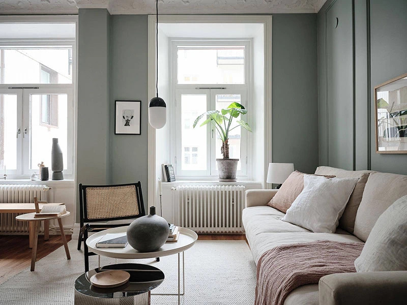 64平莫兰迪色公寓,温柔自然