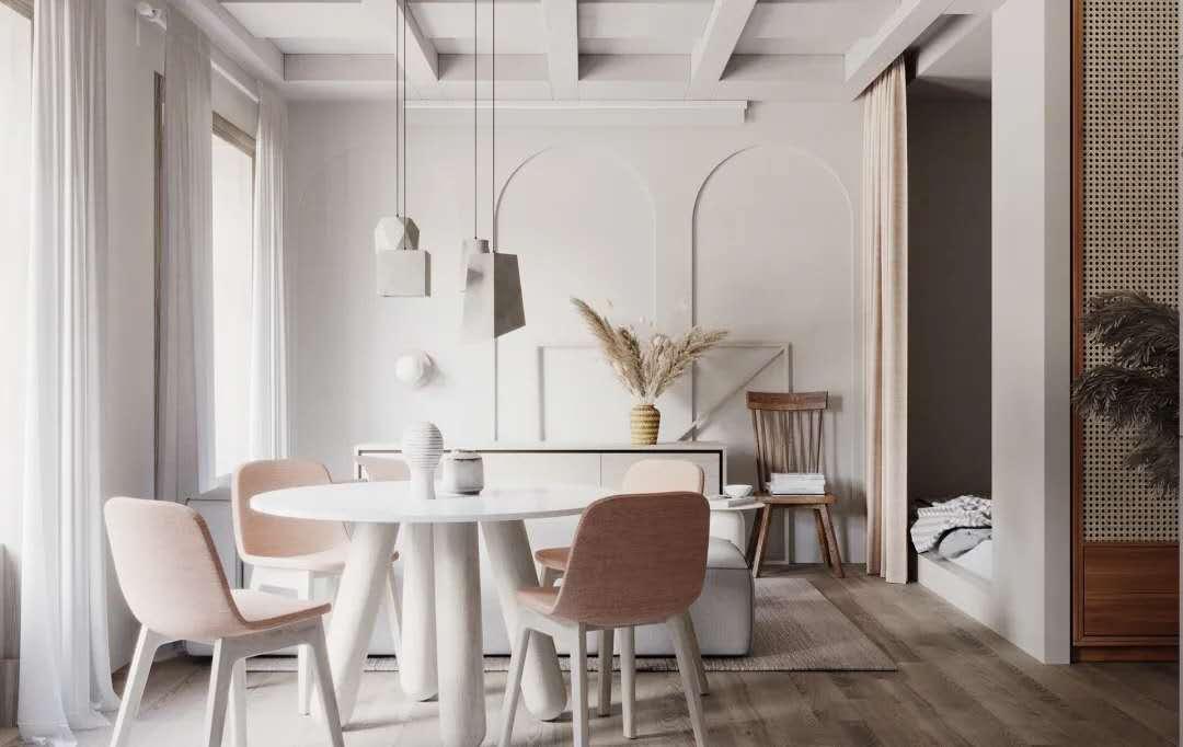 38平迷你公寓,用灰泥、木材、陶瓷做出高级感!