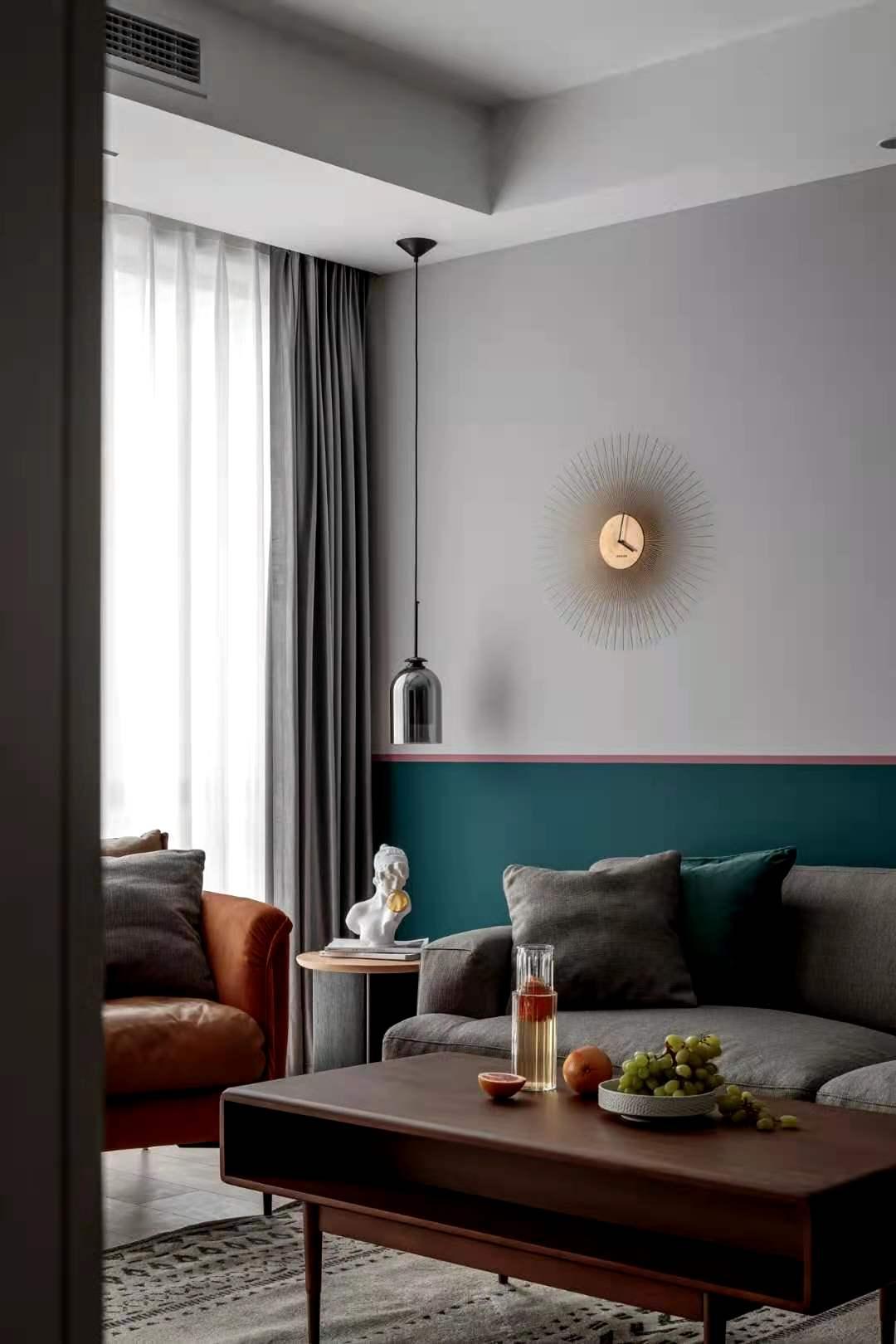 摩洛哥蓝+胭脂粉