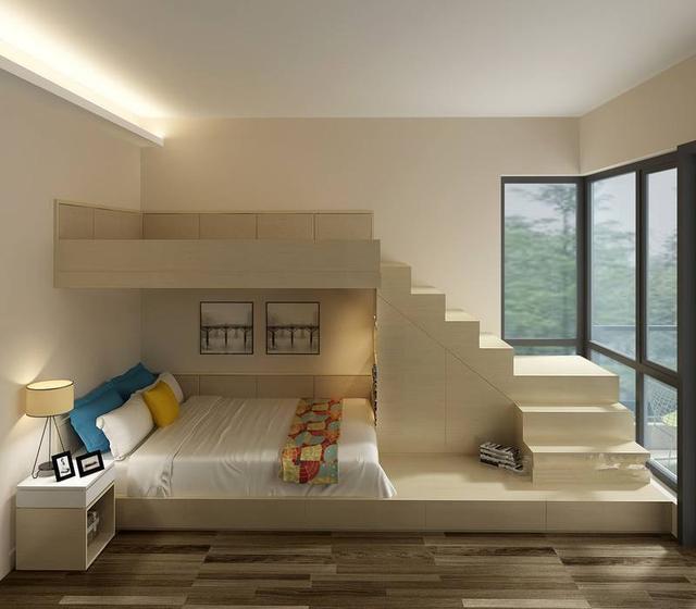 能当床用还能做收纳?快来看看新流行的卧室设计!