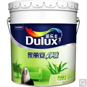 北京通州多乐士(dulux)家丽安净味 内墙乳胶漆 油漆涂料 墙面漆白色18L