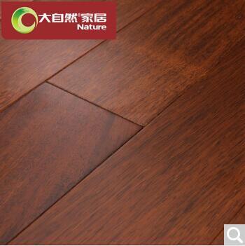 北京通州大自然(Nature)地板 实木地板 纯实木 厂家直销 印茄 适合地热