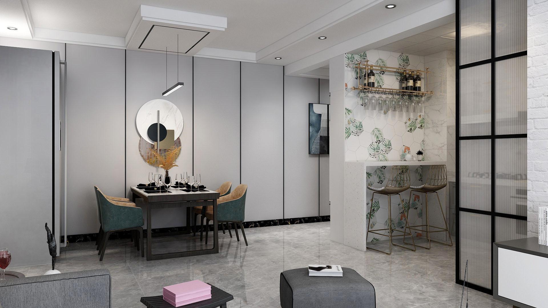 张家口装修案例维多利亚108平米 现代风格