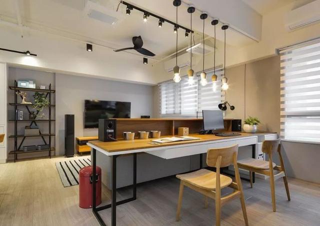 客厅装成书房可以吗?客厅+书房,完美二合一!