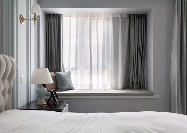 飘窗窗帘怎么装好看?别再傻傻的靠墙了,这个装法实用又美观