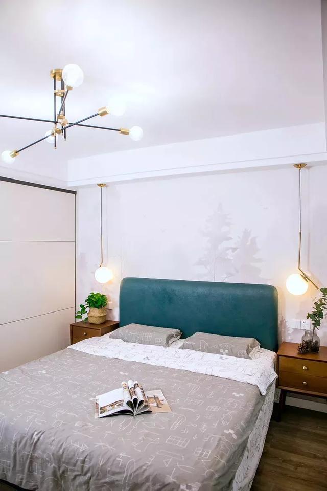 床头背景墙贴壁纸,打造一个更有趣更温馨的卧室