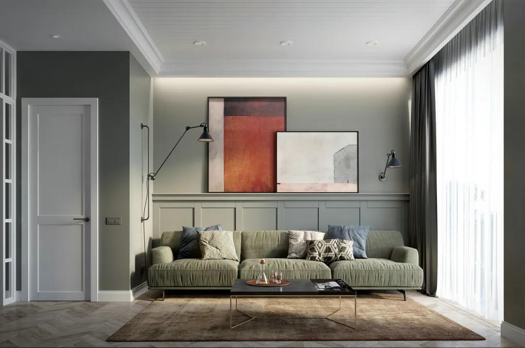 100㎡简约森系风,中性色家居布置,个性舒适的空间,温馨自然