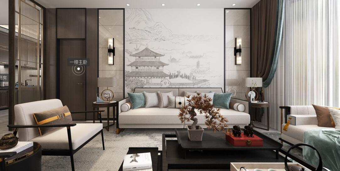 现代新中式别墅