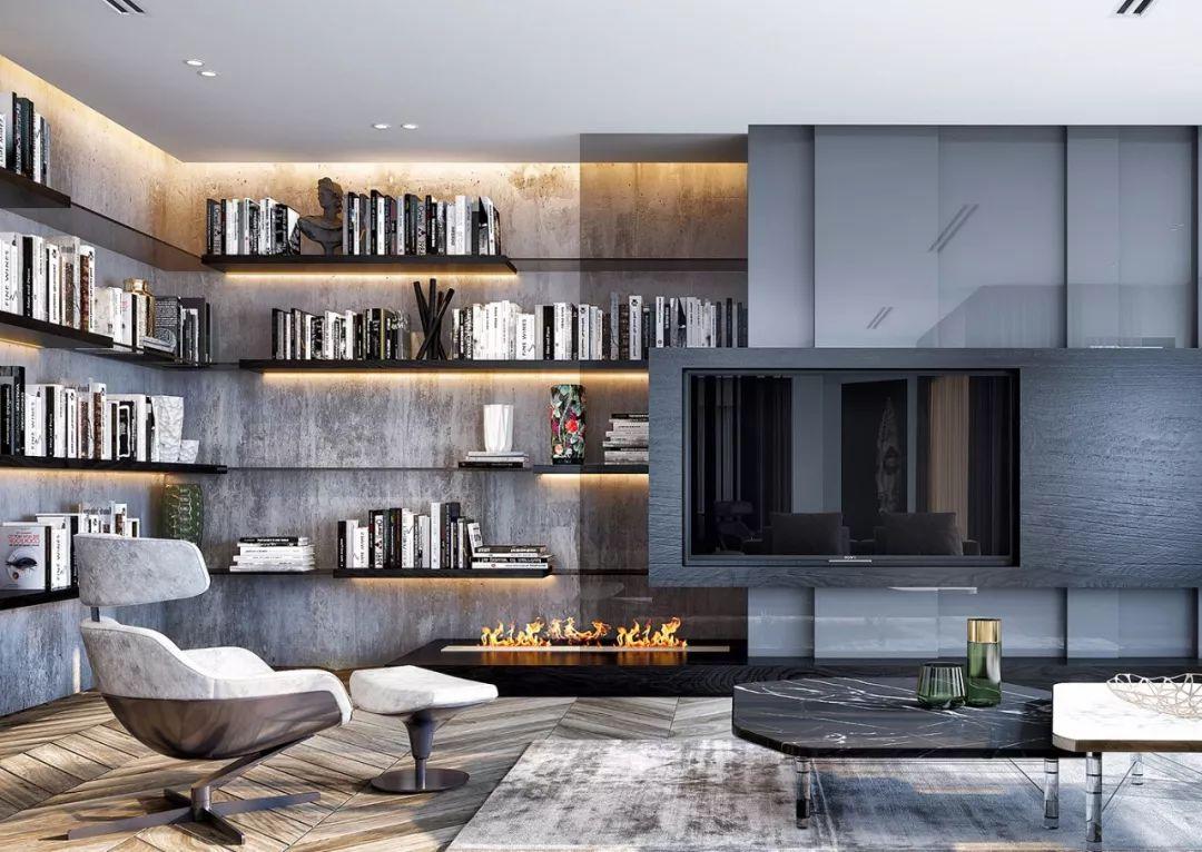 3种电视墙设计方案,去繁从简,美观实用!