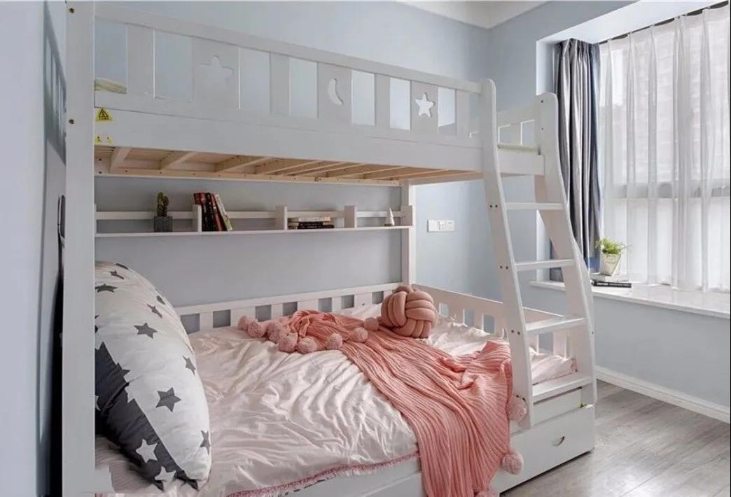 儿童房不用做上下床,靠墙做到顶美观又省空间!