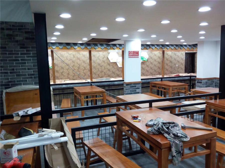 重庆装修案例新桥大食堂