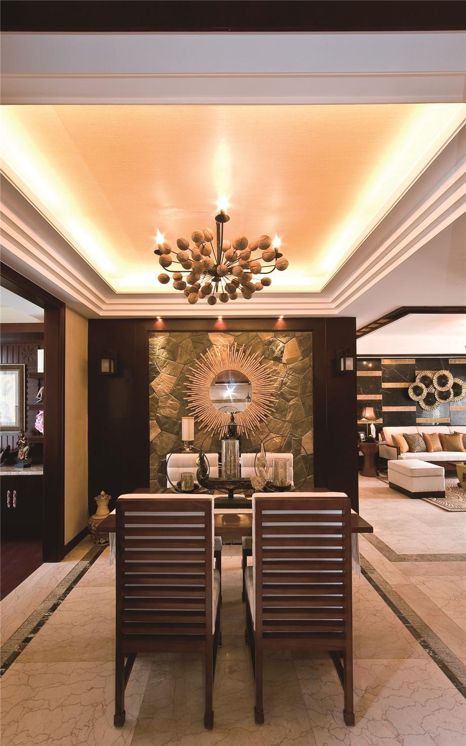绵阳岭南神韵家装案例-东南亚风格装修127平米