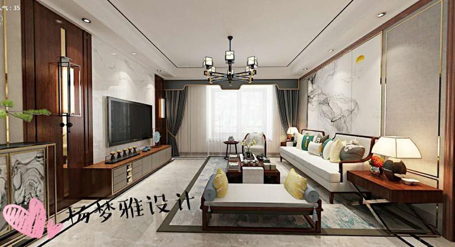 襄阳装修案例东津世纪城177平新中式