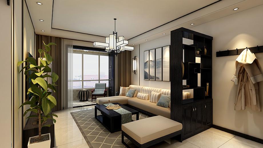 西安装修案例枫桥名邸  100平  新中式
