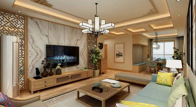 西安装修案例御湖豪庭  140平  新中式
