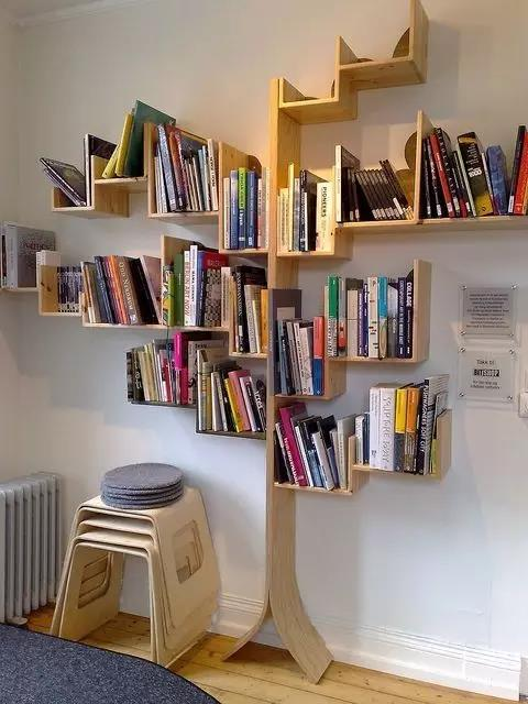 这才叫书架,文艺满满,让生活质感十足